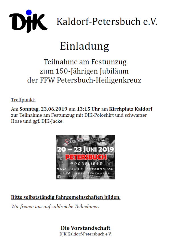 150 Jahre FFW Petersbuch-Heiligenkreuz